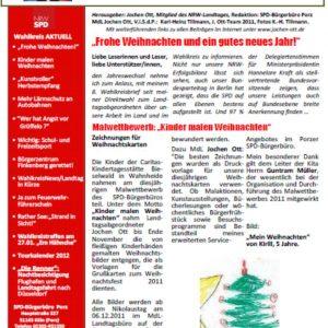 Wahlkreisbrief 8 MdL Jochen Ott vom 22.12.2011