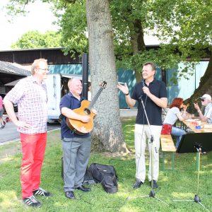 Jochen Ott, Ulf Florian und Martin Dörmann beim Familien-Picknick 2013