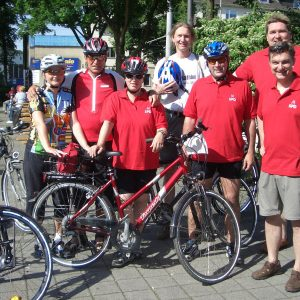 Poller SPD-Team beim Volksradfahren.
