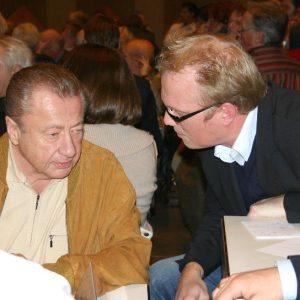 Jochen Ott im Gespräch mit Porzer Amtsvorgänger FriedhelmLenz