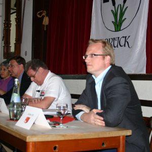 Jochen Ott beim Brücker Kandidatentreffen