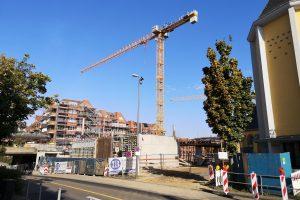Baustelle der Neuen Porzer Mitte